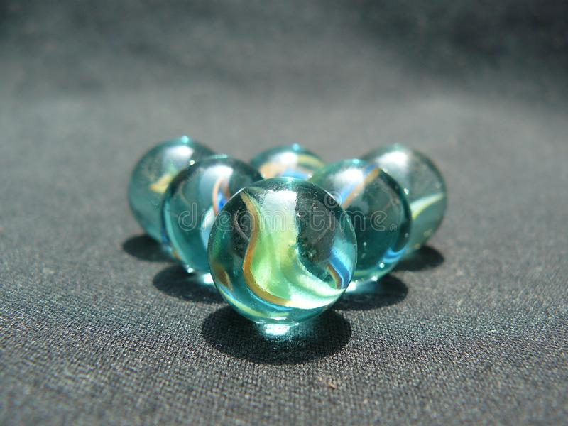 5 Glass Marbles stock image