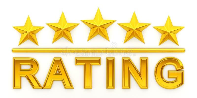 Download Five Golden Stars Stock Illustration - Image: 97178986