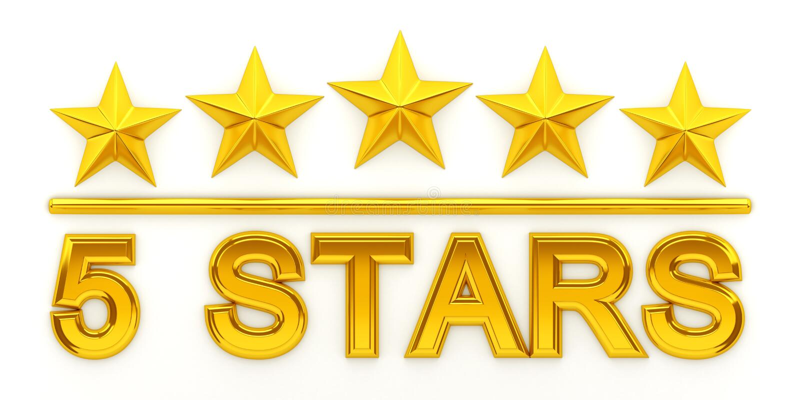 Download Five golden stars stock illustration. Illustration of rated - 97179423