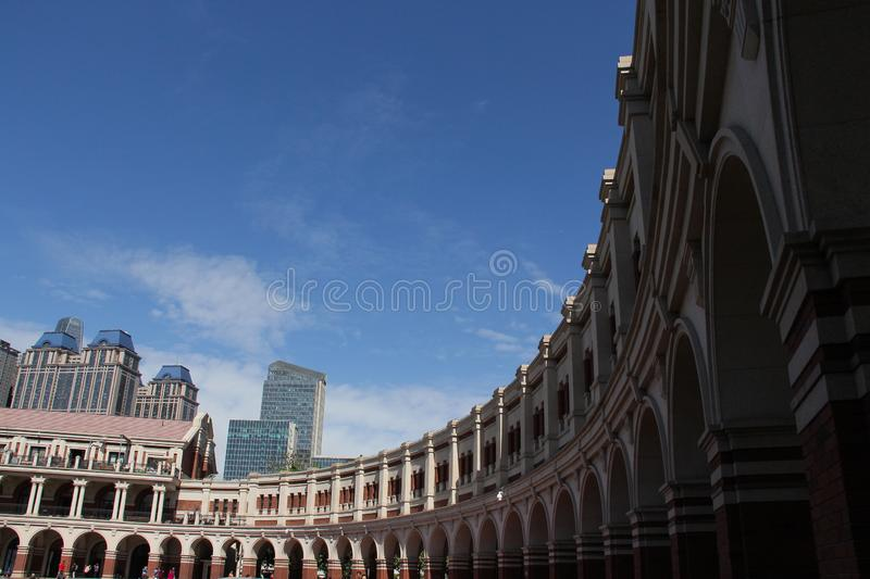 The Five Great Avenues area in Tianjin city, China stock photo