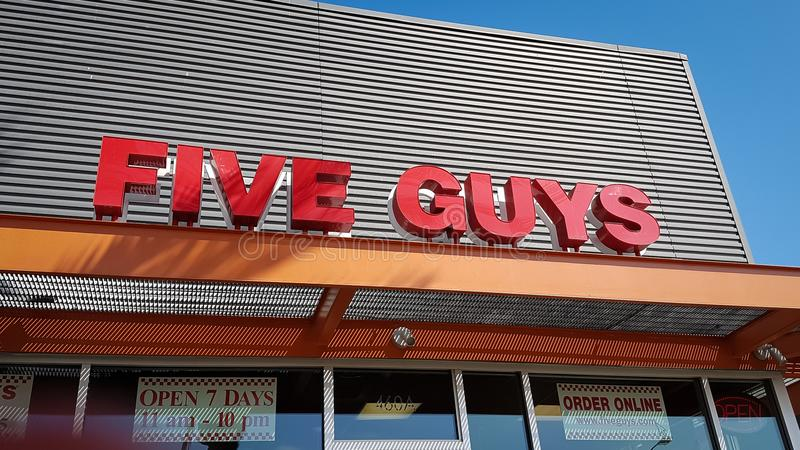 Five Guys restaurant stock photos