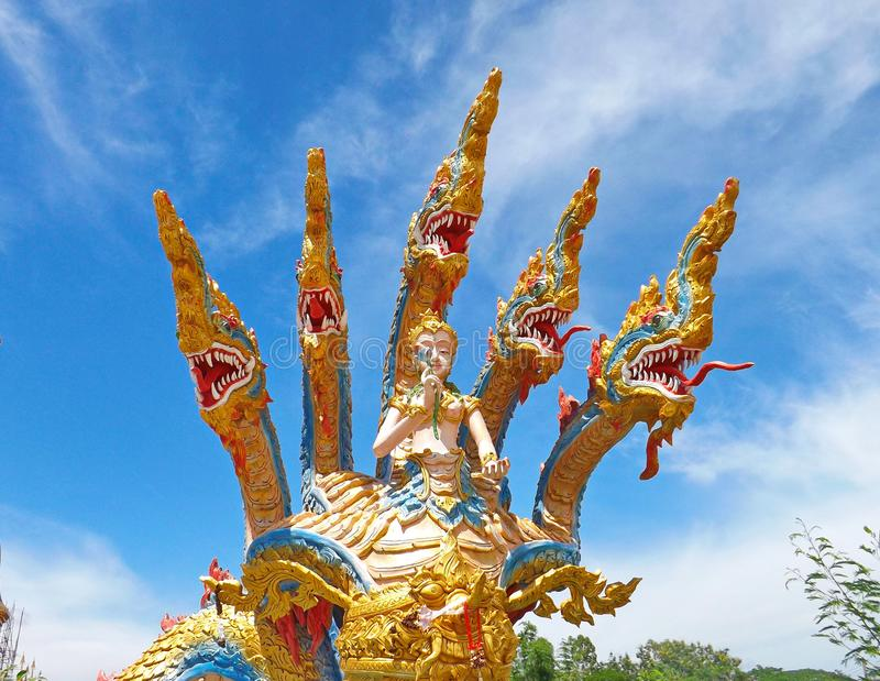 Naga of Wat pha Wang Nam Yen royalty free stock photography