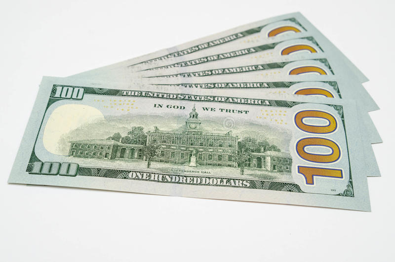Five hundred dollars of the USA. Cash royalty free stock photos