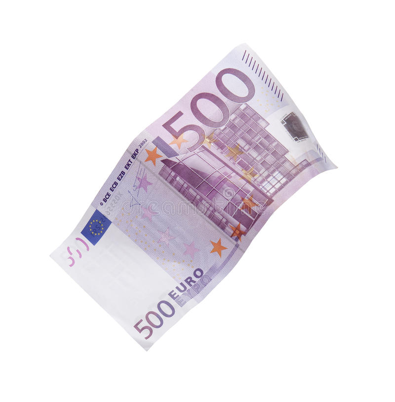 Five hundred euro bill stock images
