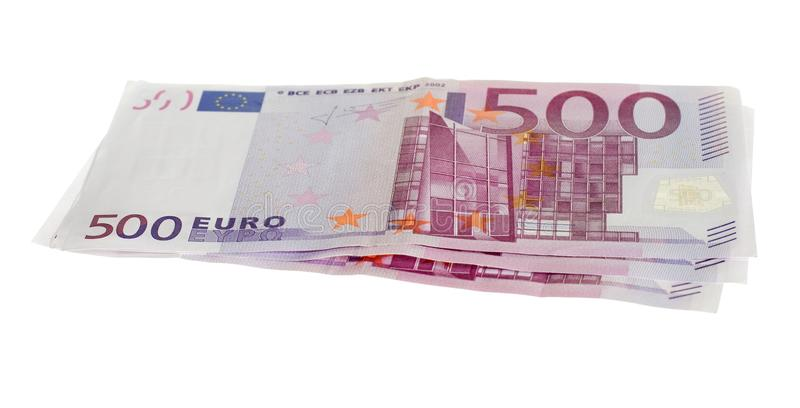 Five Hundred Euro Bills Stock Photography