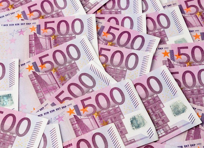 Five Hundred Euro Notes Stock Photos