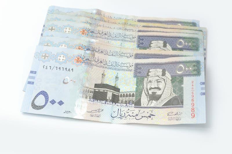 Five hundred Saudi riyals stock photo