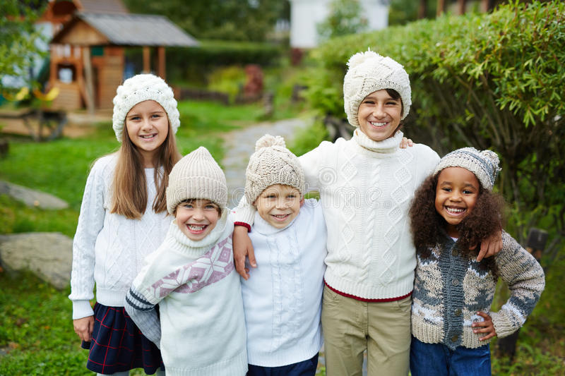 Five Kids in Big Family royalty free stock photography
