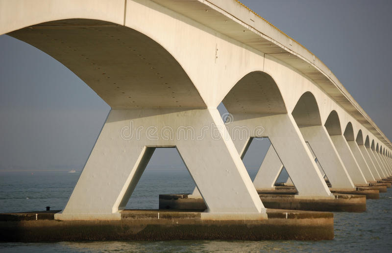 Five kilometers long bridge stock photography