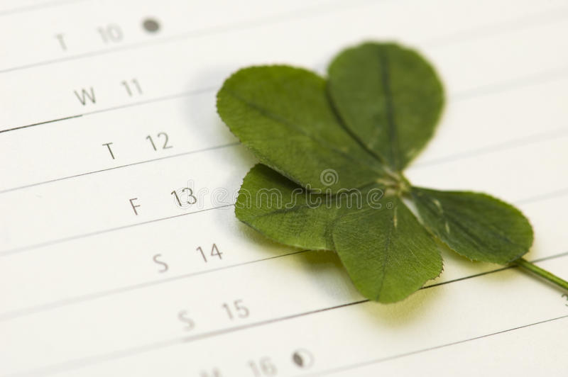 Download Five Leaf Clover And 13 Friday Stock Image - Image: 11126799