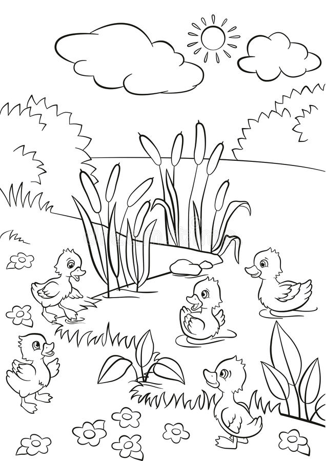 coloring pages on lake - photo#28