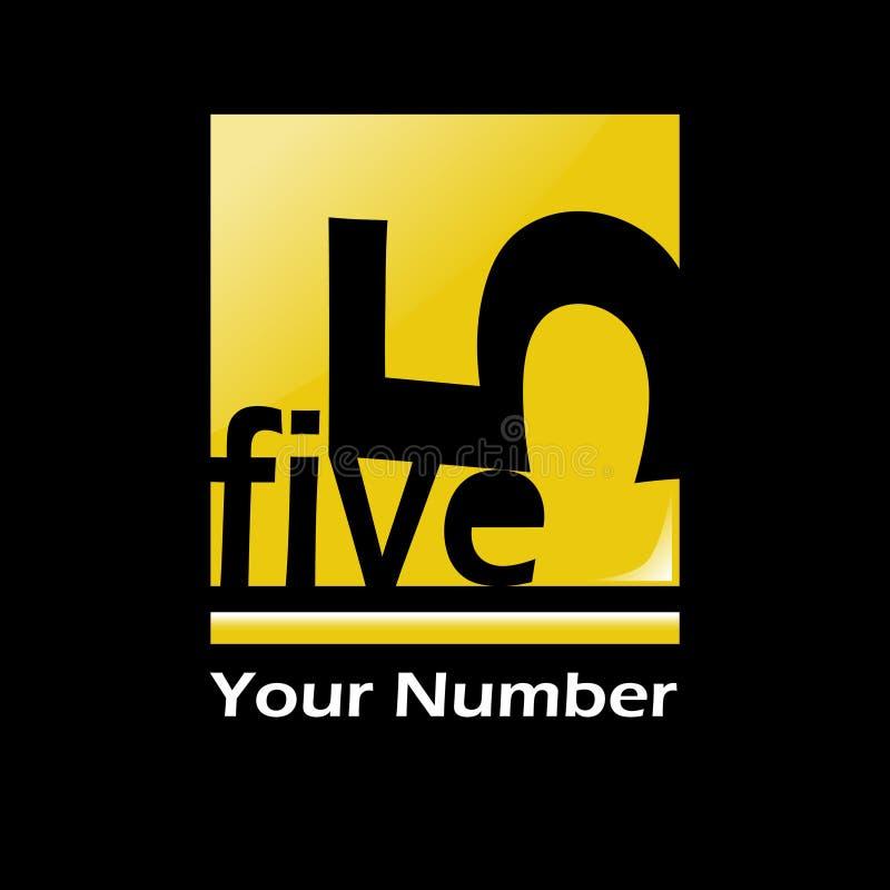 Five logo shape vector illustration