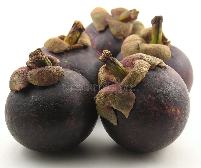 Download Five mangosteen on white stock photo. Image of antioxidant - 2348324