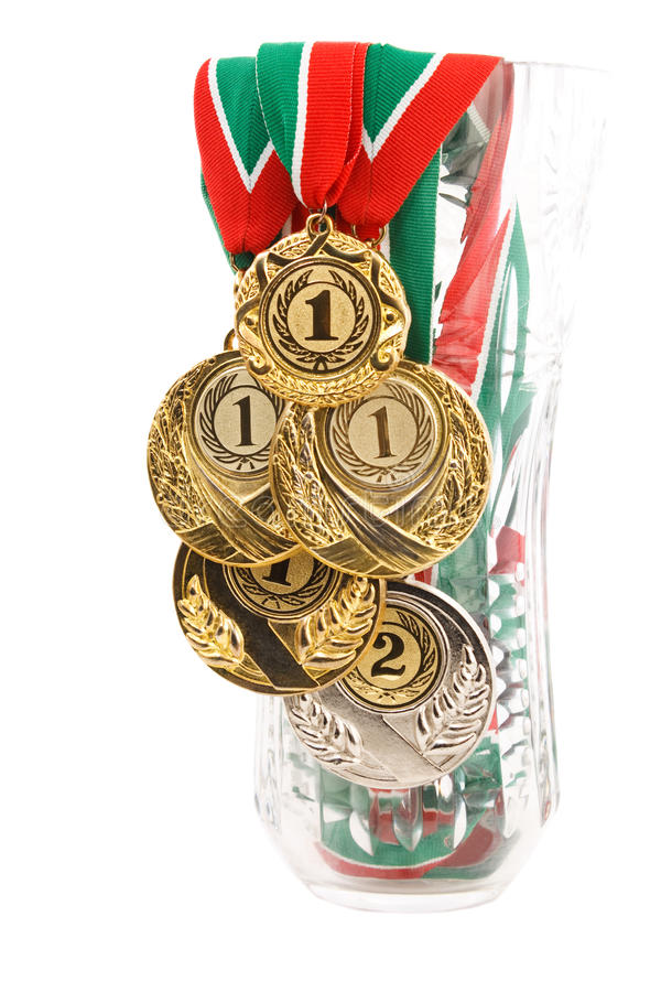 Download Five medals stock photo. Image of trophy, yellow, success - 17603866