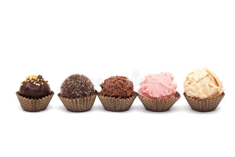 Five mini cakes stock images