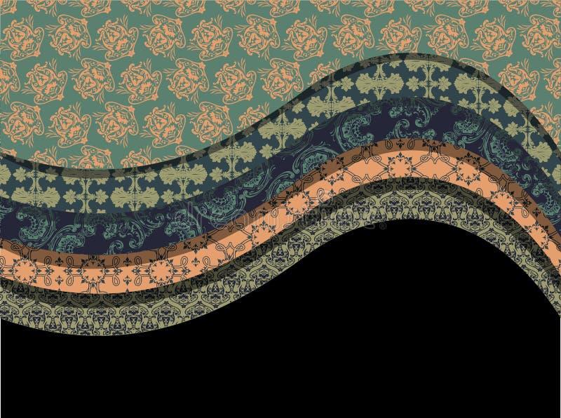 Five Patterns Waves. royalty free illustration
