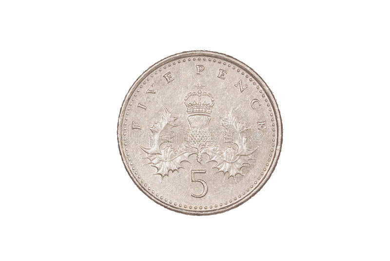 Five pence piece royalty free stock image