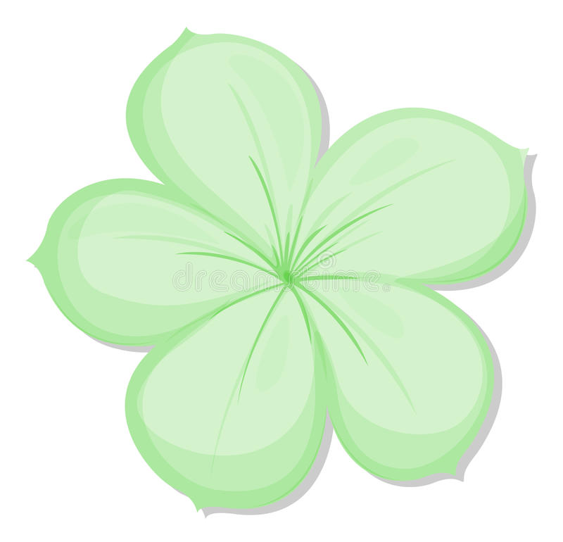 A five-petal green flower royalty free illustration