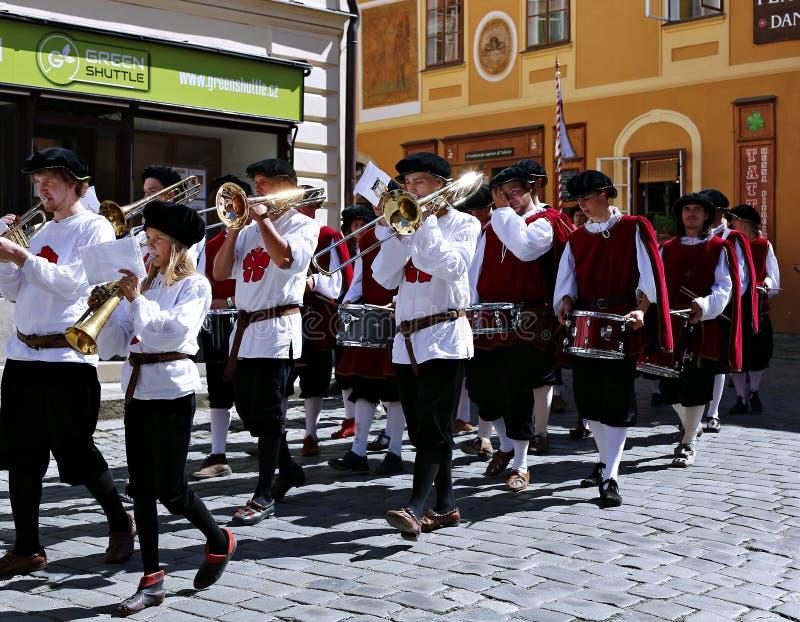 Five-petalled Rose Festival in Cesky Krumlov in the Czech Republic royalty free stock image