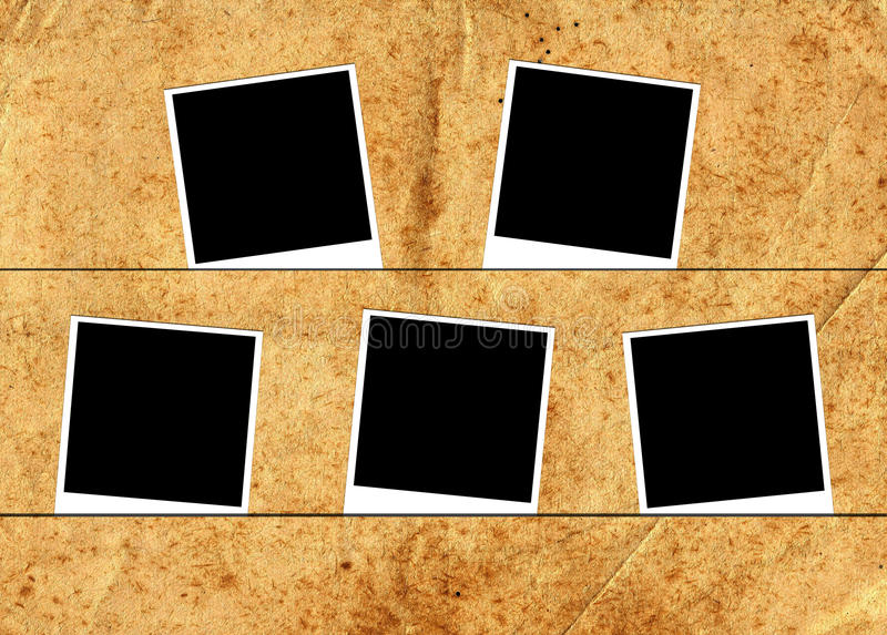 Five photo frames stock images