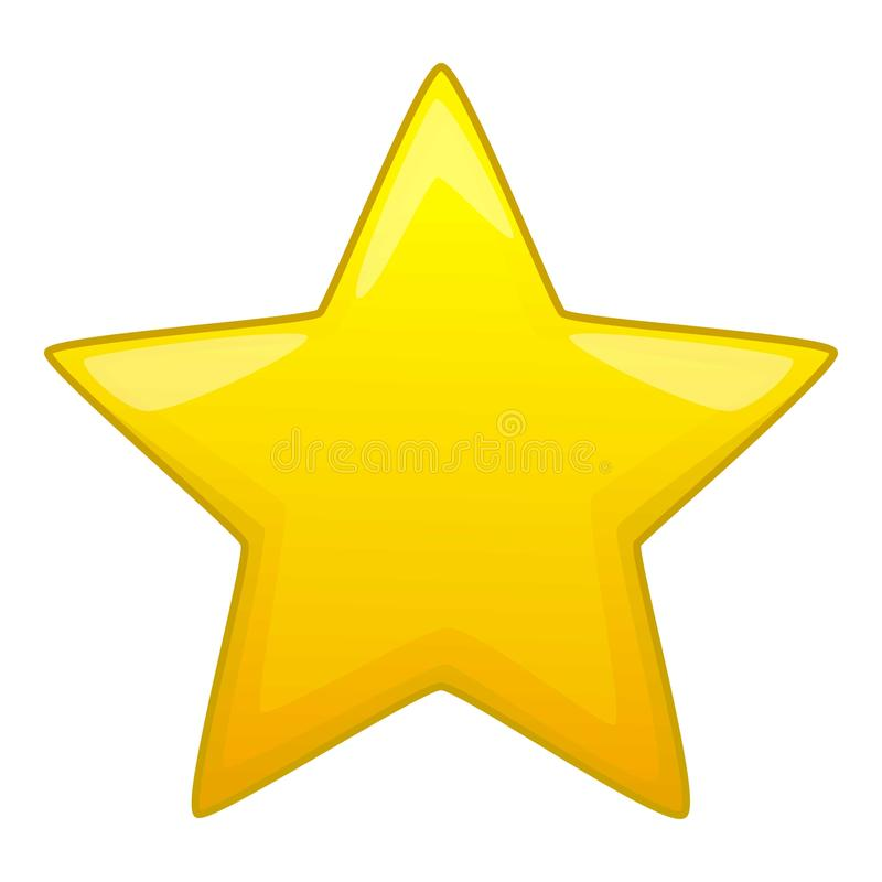 five pointed yellow star icon cartoon style stock vector rh dreamstime com Super Star Clip Art Cartoon Moon Clip Art