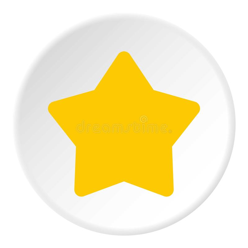 Five pointed yellow star icon, flat style. Five pointed yellow star icon. Flat illustration of five pointed yellow star vector icon for web stock illustration