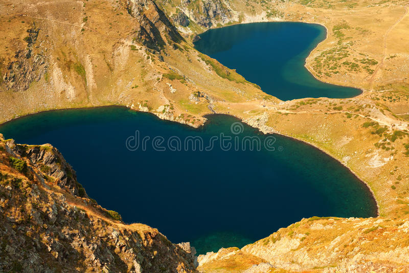 Five of the Seven Rila Mountain Lakes stock photography