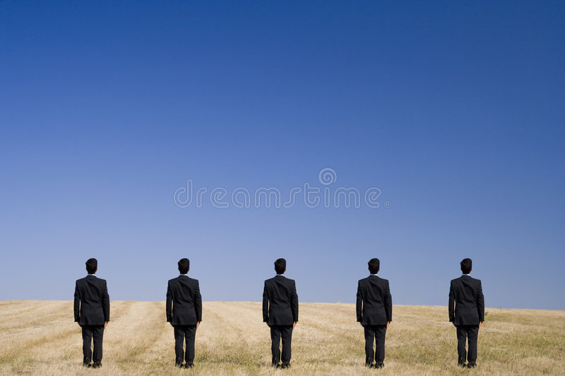 Five Standing On The Field Royalty Free Stock Photography