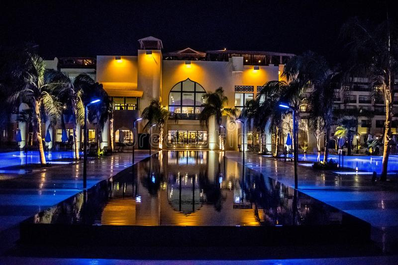 Five star hotel in Egypt royalty free stock photos