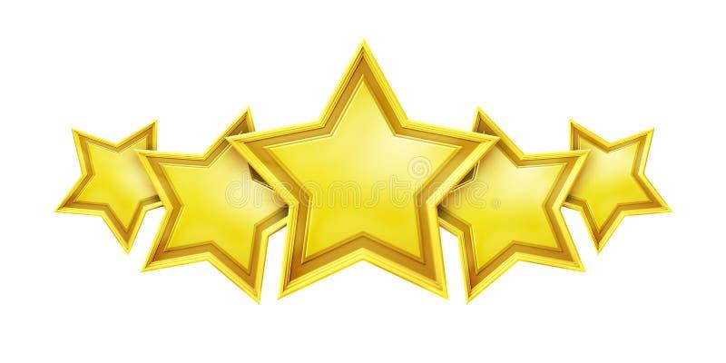 Five star rating service stock illustration