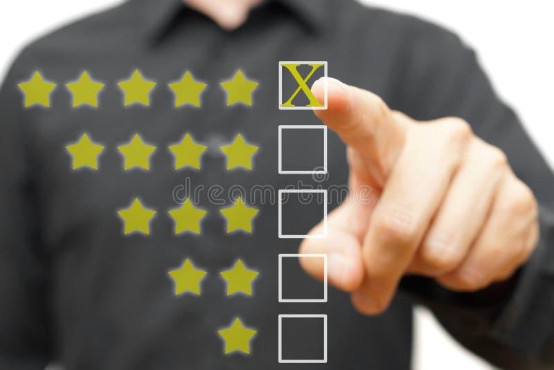 Five star rating. On white vector illustration