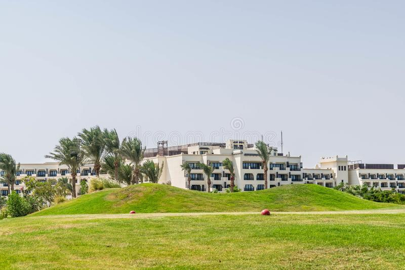 Five star resort hotel in Egypt stock photo