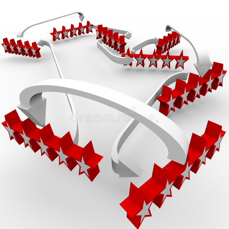 Download Five Star Reviews Ratings Great Feedback Stock Illustration - Image: 26510100