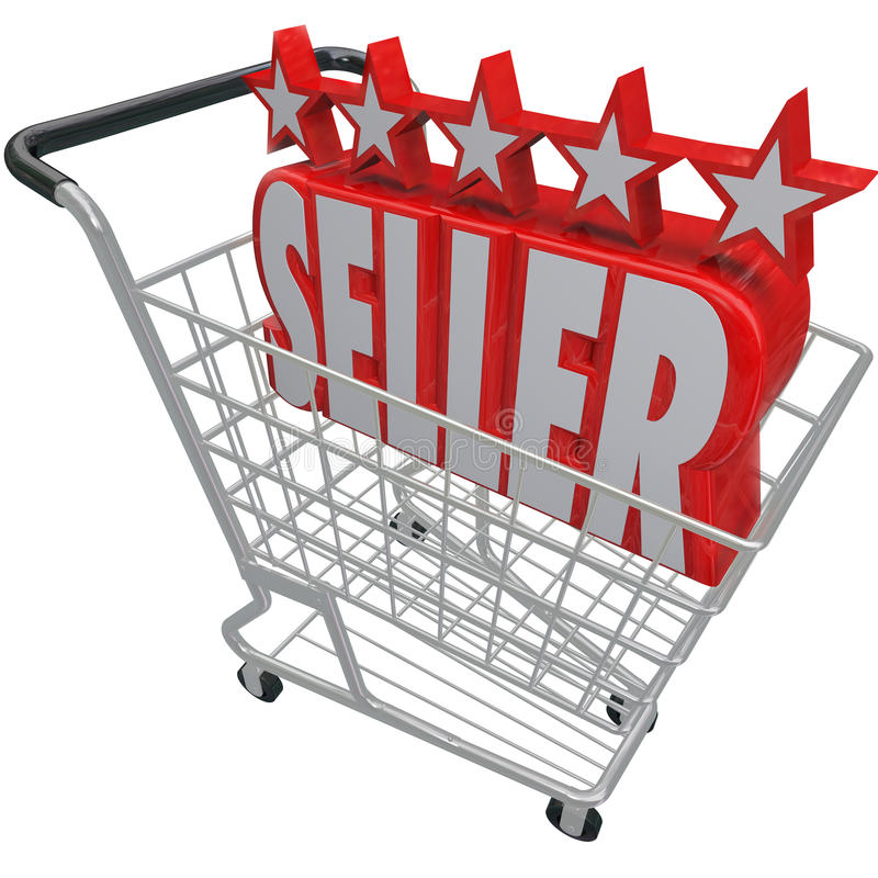 Free Five Star Seller Shopping Cart Trusted Best Online Retailer Royalty Free Stock Images - 29536939