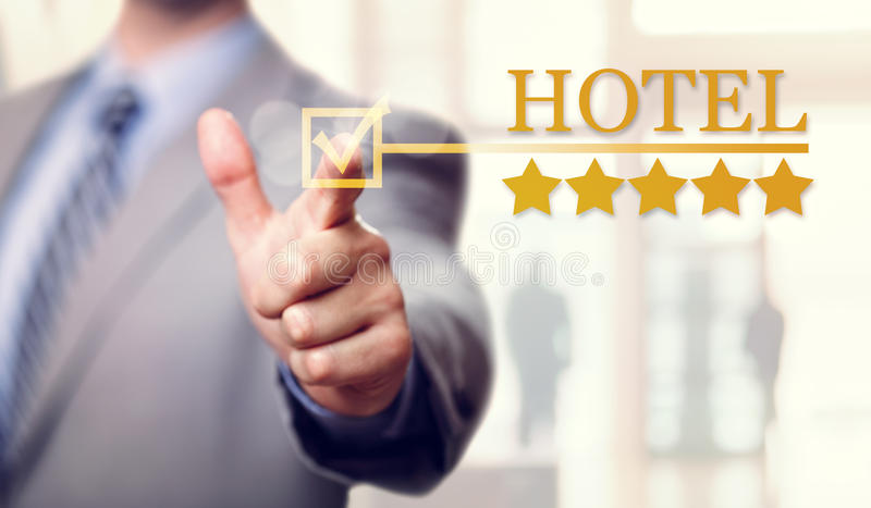 Five stars luxury Hotel accommodation and service. Five stars luxury Hotel service and accommodation stock photography