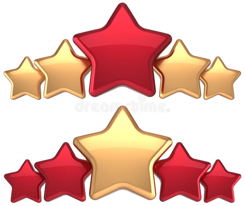 five stars service gold red leadership award stock illustration rh dreamstime com golden star clipart gold star clip art download