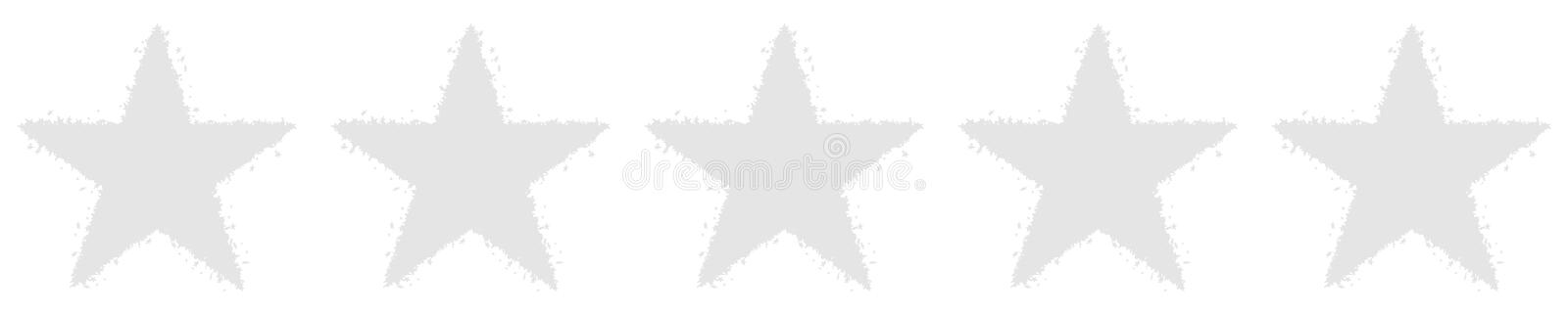 Five Stars Voting - Blank - Gray Background - Recension, Rating vector illustration