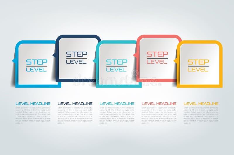Five steps infographics report, template, chart, scheme. Five steps infographics report / template / chart, scheme. Vector stock illustration