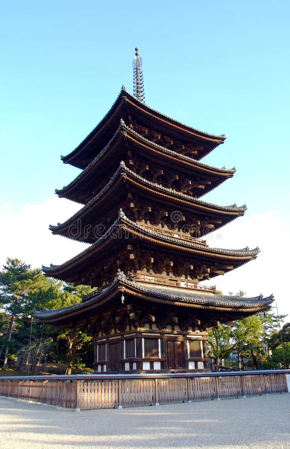 Download The five-storied pagoda stock photo. Image of travel - 15709140