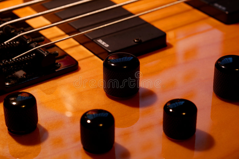 Download Five String Bass Up Knobs stock image. Image of bassline - 102523