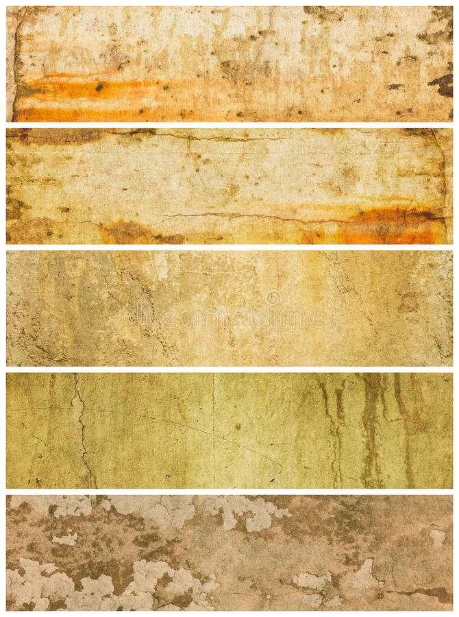 Download Five Textured Grunge Panels Stock Images - Image: 11070194