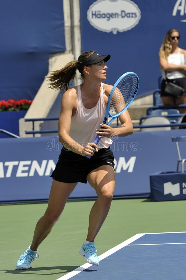 Five times Grand Slam Champion Maria Sharapova of Russian Federation practices for 2019 Rogers Cup in Toronto stock photo