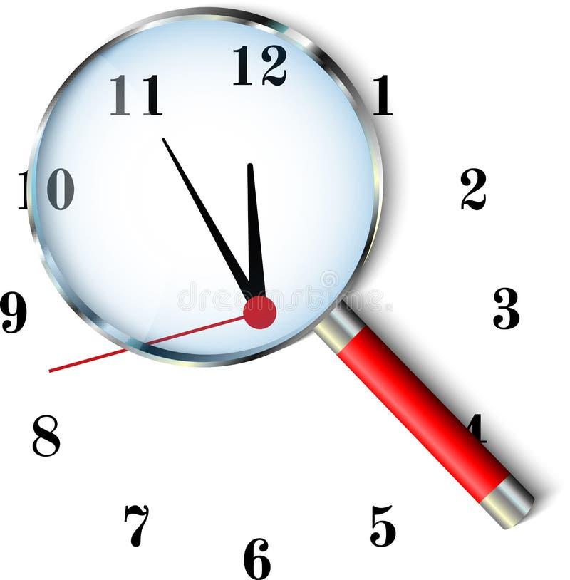 Five to twelve clock. Deadline time concept stock illustration