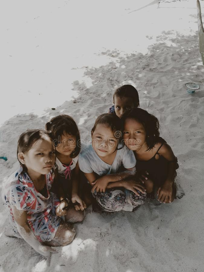 Five Toddlers Sitting On Sand Free Public Domain Cc0 Image