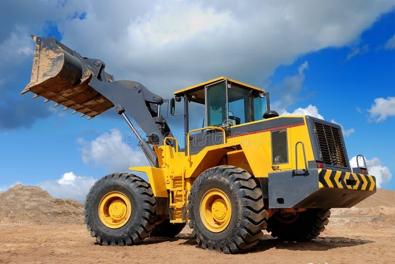 Five-ton wheel loader buldozer royalty free stock photos