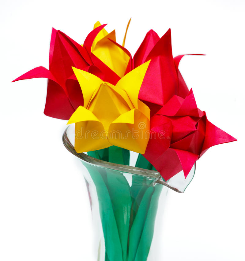 Download Tulips in vase stock photo. Image of objects, vase, pattern - 30106592