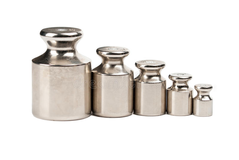 Download Five Weights Of Various Sizes Stock Photo - Image: 25544860