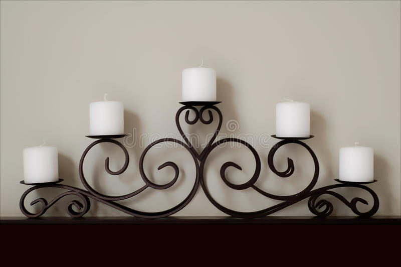 Download Five White Candles stock photo. Image of curled, candles - 10451788