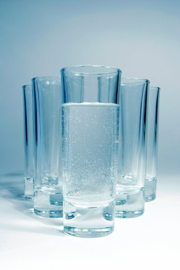 Five wine-glass stock photography