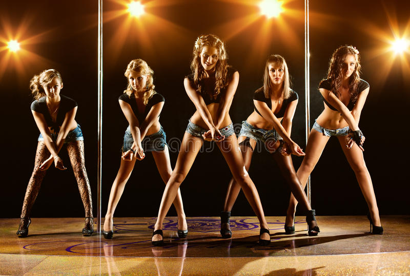 Download Five women show stock photo. Image of beautiful, attractive - 21265032